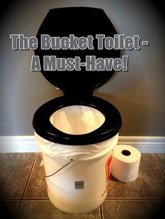 Build a Bucket Toilet for Emergencies, Travel, Camping - DIY