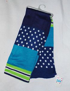 #Shopping Starting Bid $1.99 Christmas Stocking Stuffer! Justice Blue & Lime Green Scarf New w Tags Free Ship