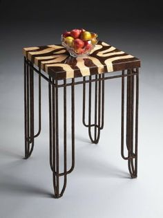 Butler Side Table - Metalworks NoPart: 6055025 by BUTLER-FURNITURE-ACCENT-SPECIALTY. $369.00. Wood products and finished metal. Laminated brown and cream crushed coconut shell veneer top. NoPart: 6055025