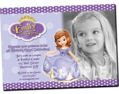 PRINCESS SOFIA Invitation Birthday Party Invitation Digital