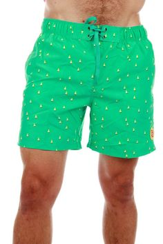 c6d4a96027 Sailboat Print Mint Green Swim Trunks   Get your retro beach gear and all  manner of