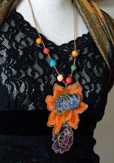 Flower design fabric African textile print by Dabangalicious, love it! #ecrafty