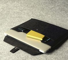 Leather And Wool Felt Macbook Case – $152