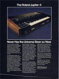 Tagged: Roland Jupiter 4, synthesizer, analog, vintage, advertisement, 1978, 70s, 1970s