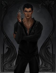 "Rhysand, High Lord of the Night Court  ""There are different kinds of darkness,"" Rhys said. I kept my eyes shut.  ""There is the darkness that frightens, the darkness that soothes, the darkness that is restful."" I pictured each.  ""There is the darkness of..."