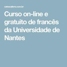 Curso on-line e gratuito de francês da Universidade de Nantes