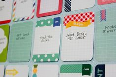 What a great idea!  Writing your summer to-do list on Project Life cards... then document each with a photo and slip it into your album.  LOVE THiS!