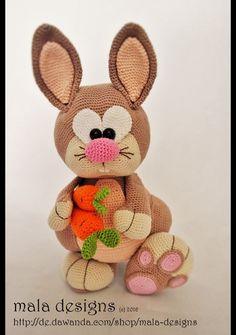 Häkelanleitung für Hoppel Hase / diy knitting instruction for sweet bunny by mala designs via DaWanda.com