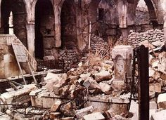 From an article about the flight of 1 million Jewish refugees from Arab countries in Ruins of Central Synagogue in Aleppo, Syria after 1947 pogrom Dead Sea Scrolls, Arab States, Fiddler On The Roof, Elie Wiesel, Turkish Design, Archaeological Discoveries, Jewish History, Aleppo, National Treasure