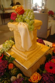roman column cake - Google Search