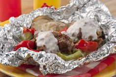Leave the dishes for another day and bake up this foil packet, all-in-one hamburger dinner. There's hardly any work involved and clean-up is a breeze!
