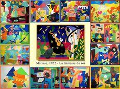 """Estirniq: HENRI MATISSE DIBUJANDO CON TIJERAS Matisse  decía """"me paso horas mirando las formas recortadas, creando en mi cabeza composiciones con ellas, cuando ya tengo clara la composición. Alfileres, chinchetas y pegamento me ayudaban a fijarlas en las paredes y formar con ella siluetas, flores de nieve sinuosas o formas de caracol"""""""
