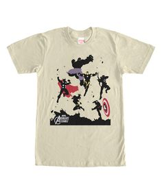 Look at this Cream Avengers Assemble Tee - Men's Regular on #zulily today!