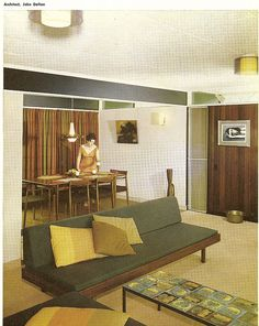"House By John Dalton  ""Australian Book of Furnishing And Decorating"" c 1965"