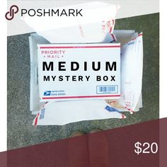 Medium Mystery Box Downsizing my closet!  Like my closet?  Why thank you!  Can't decide what you want and is everything still in a bundle?  This might ease you into my closet a little easier.  In this medium mystery box you will receive 3 items ranging from sizes xs- s 0-2 from my closet in my style.  Can be dresses, tops, jeans!  What brand?  Can't say.  But it can range from Forever 21, J. Crew, Hollister, Gap, Bar III, Levi's, Nasty Gal, Anthropologie, Guess, Urban Outfitters and many…