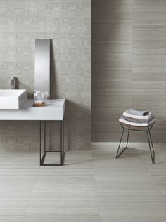 The beauty of balance and harmony emanates from the elegant texture of SHIBUSA, an innovative ceramic surface dedicated to planning and designing exquisite interiors. Mosaic Tiles, Wall Tiles, Tiles Texture, Tile Installation, Decorative Tile, Bath Remodel, Porcelain Tile, Tile Design, Tile Floor