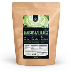 Jade Leaf - Organic Japanese Matcha Latte Mix - Make Delicious Matcha Green Tea Powder Lattes at Home Bulk Size] Japanese Green Tea Matcha, Matcha Green Tea Latte, Matcha Green Tea Powder, Organic Matcha, Organic Sugar, Different Types Of Coffee, Iced Latte, Pour Over Coffee, Cafe Style
