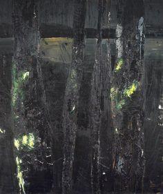 Giovanni Frangi (Italian, b. Nobu, Oil on canvas, x 201 cm. Nocturne, Landscape Art, Impressionism, Photo Art, Oil On Canvas, Abstract Art, Artwork, Shadows, 2d