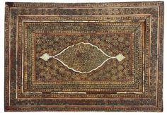 Antike Islamische Pesien Khatamkari Marquetry von KabulGallery