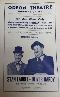 The British people loved these 2 icons of the silver screen, so flocked to see them in the flesh . they weren't naked ! ) as visited the UK ! Laurel And Hardy, Stan Laurel Oliver Hardy, Great Comedies, Classic Comedies, Classic Films, Hollywood Stars, Classic Hollywood, Big Boyz, Comedy Duos