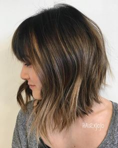 60 Inspiring Long Bob Hairstyles and Haircuts Angled Choppy Lob With Bangs Choppy Bob With Bangs, Long Choppy Bobs, Choppy Bob Haircuts, Bob Haircut With Bangs, Choppy Lob, Soft Bangs, Angled Lob, Long Lob, Bob Hairstyles Brunette