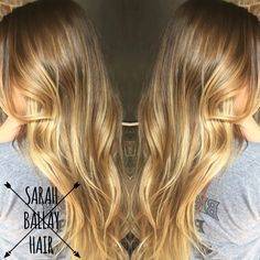 Honey blonde balayage perfect for transitioning into fall