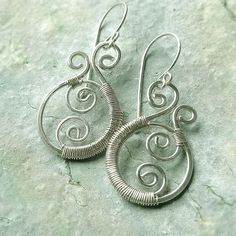 Silver Paisley Earrings Silver Wire Wrap Earrings eco friendly summer fashion. $47.95, via Etsy.