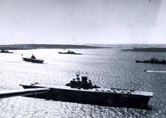 USS Wasp (CV at Scapa Flow, April In the background are (left to right): British Battleship and Aircraft Carrier; USS Washington (BB and USS Wichita (CA National Archives Photograph, Uss Hornet Cv 12, New Battleship, American Aircraft Carriers, Royal Navy, Uk Navy, Heroes And Generals, Navy Carriers, Navy Day, Us Navy Ships