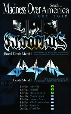 MADNESS OVER SOUTH AMERICA: Khrophus y Deadpan unidos en ocho conciertos en América del Sur