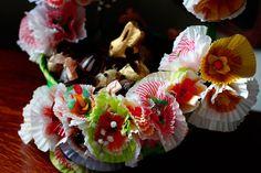 Cupcake Flower Easter Basket and the Revenge of Chocolate Karma