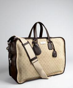 Gucci leather duffel bag