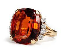 J. E. Caldwell Citrine Diamond Estate Ring