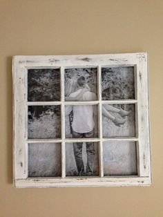 Old window used as a picture frame :)