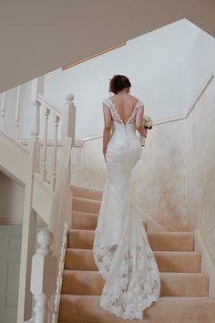 Deep V-back dress