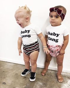 #babygang   @tigerblush @boandwes  shop Baby Gang Tees & Bodysuits at spearmintLOVE.com