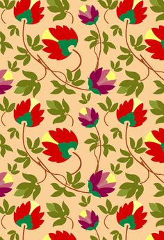floral motif pattern by NYadav on WeaveUp