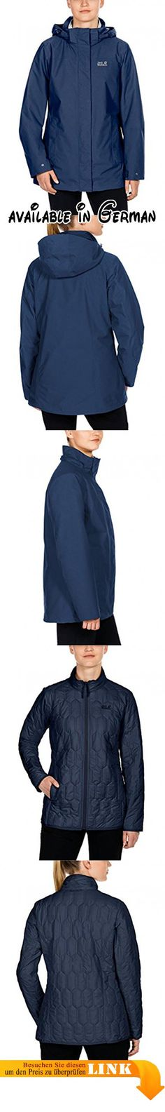 Jack Wolfskin Damen Vernon Women 3-in-1 Jacke, Dark Sky, XXL. 3-in-1 Jacke. Wasserdicht, Winddicht. Atmungsaktiv. Herausnehmbare wattierte Innenjacke #Sports #OUTDOOR_RECREATION_PRODUCT