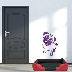 """Pug dog - autocolant de perete. Vă doriti un interior elegant? Autocolantul inovator si original de perete """"Pug dog """" va desăvârsi interiorul dvs. într-un mod neconventional. Încercati autocolante de perete, care sunt o metodă accesibilă si în acelasi timp foarte eficientă de a avea un interior diferit de ceilalti. Cu autocolantele noastre de perete, veti avea un design original al peretilor dvs. în câteva minute si veti crea un mediu confortabil în care vă veti simti foarte bine. Decals, Design, Products, Home Decor, Tags, Decoration Home, Room Decor, Sticker"""