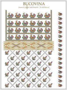 IA AIDOMA 25 = Bucovina, ROMANIA Folk Embroidery, Embroidery Patterns, Knitting Patterns, Cross Stitch Borders, Cross Stitch Patterns, Beading Patterns, Pixel Art, Quilts, Sewing