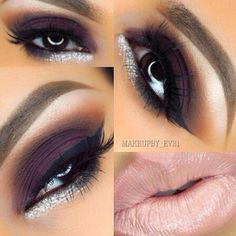 Purple glitter glam.