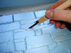 TECHNIQUE - Making a Stonewall step by step tutorial - Carving by em`lia, via Flickr