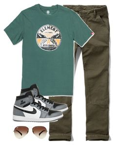 """guy style"" by purplicious ❤ liked on Polyvore featuring Abercrombie & Fitch, Element, NIKE, Ray-Ban, men's fashion and menswear"