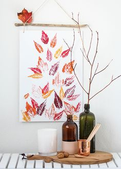 Easy DIY: pretty leaf print | Habitat by Resene
