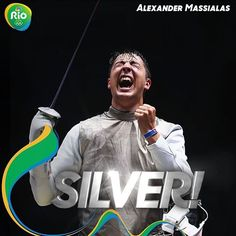 08.07.16 USA's Alexander Massialas takes home silver for in Individual Foil. #Rio2016