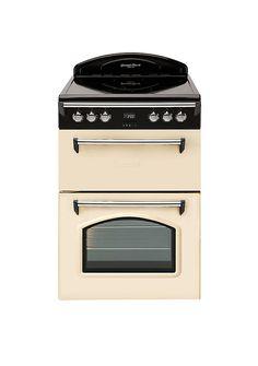 GRB6CVC 60cm Double Oven Electric Cooker - Cream