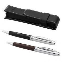 Un stylo Balmain cuir gravé à offrir pour papa