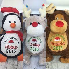 Christmas personalised teddy bears