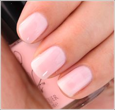 """""""Cult Nails Enticing Nail Lacquer. A very sheer pale milky pink buildable to an almost opaque finish. It's a soft pale pink with a subtle yellow undertone running through it, so it has a very soft, romantic edge to it and should work on both cool and warmer complexions. It's a nice shade for springtime as well as for those seeking work-friendly colors."""""""