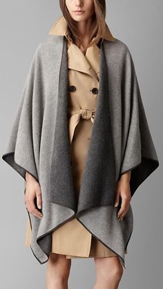 Wahhhhh - why do i have to be poor!? Double-Faced Cashmere Wrap | Burberry