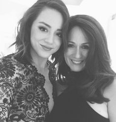 Chloe Bennet and her mother, Stephanie Wang